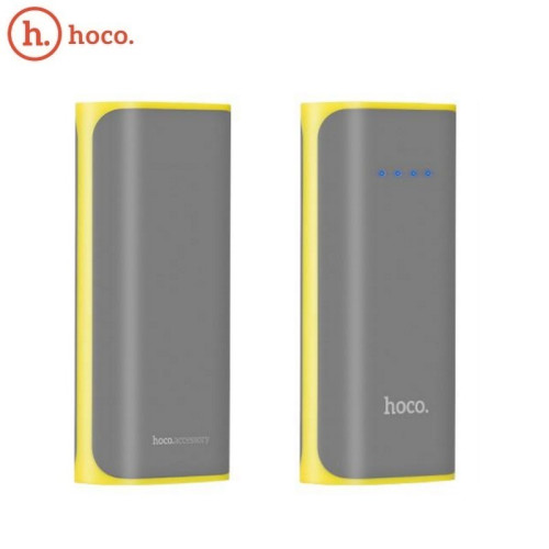 Hoco B21 Easy Carry 5200mAh Compact Power Bank External Charger + LED Torch 5V USB 1A Max Grey (B215200GRY)
