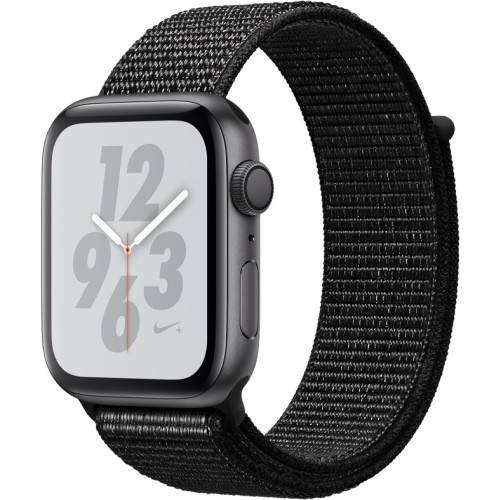APPLE WATCH SER.4 NIKE+ 44MM GRAY, LOOP BLACK