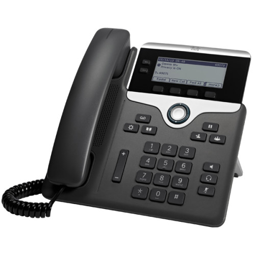 Cisco 7821 IP phone Black,Silver Wired handset 2 lines