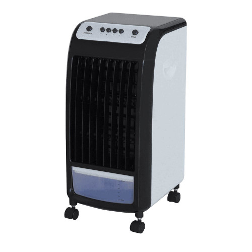 Air conditioner mobil Ravanson KR-1011 (75W; 3 ventilation speeds: high, medium, low, Airflow: 410 ml/h, Cooling with a water pump, Maximum air speed: 8 m/s, Mechanical control, Operating value: 0,09 (m3 /min)/W, Overheating protection, Possibility o