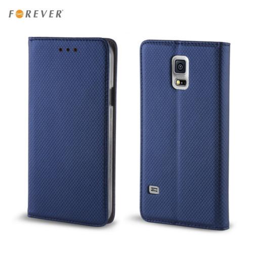 Forever Magnēstikas Fiksācijas Sāniski atverams maks bez klipša Samsung J710F Galaxy J7 Tumši Zils