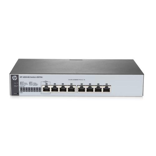 Hewlett Packard Enterprise 1820-8G Managed L2 Gigabit Ethernet  (10/100/1000) Grey 1U