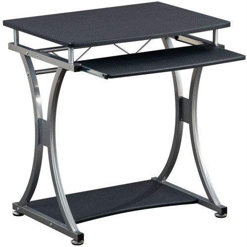 Techly Compact computer desk 700x550 with sliding keyboard tray black graphite