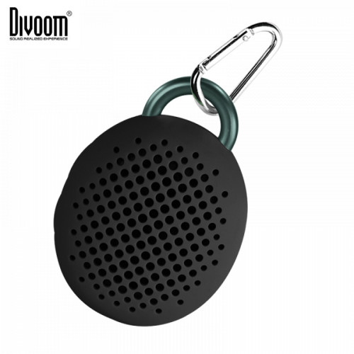 Divoom Bluetune-Bean 2nd gen. Rubbered Shock-Proof Inredible Powerful 3W DSP Bluetooth Speaker with Mic Black