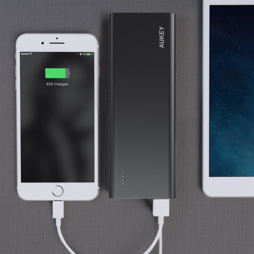 Power Bank AUKEY PB-AT20 (20100mAh; microUSB, USB type A; black color)