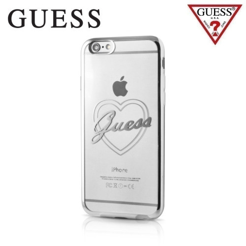 f30430b3a GUESS GUHCP7LTRHS Signature Heart Hard Silicone Ba... | GUHCP7LTRHS | Bags  and sleeves for smartphones