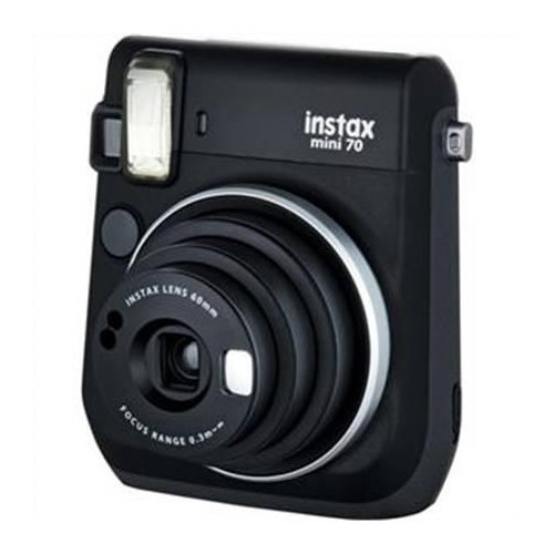 Fujifilm instax mini 70 Instant camera, ISO 800, Focus Macro Mode (0.3 m - 0.6 m) Normal Mode (0.6 m - 3 m) Landscape Mode (3 m and beyond), Lithium, Black