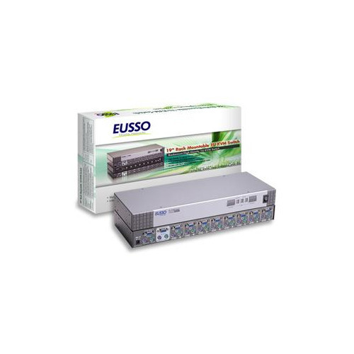 8-Port PS/2 KVM Switch Rack Mountable with OSD EUSSO UKS8108-RO
