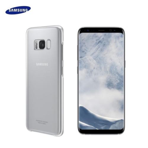 Samsung EF-QG955CSE Oriģināls Īpaši plāns aizmugures maks-apvalks G955 Galaxy S8 Plus / S8+ Caurspīdīgs/Sudrabains