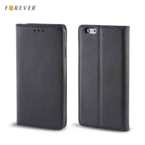 Forever Magnēstikas Fiksācijas Sāniski atverams maks bez klipša Samsung A320F Galaxy A3 (2017) Melns