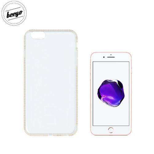 Beeyo Diamond frame super plāns silikona caurspīdīgs aizmugures maks-apvalks priekš Apple iPhone 7 Plus / 8 Plus (5.5inch) Zeltains