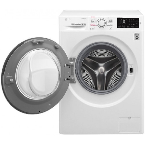 LG F4J6TY0W washing machine Freestanding Front-load White 8 kg 1400 RPM A+++-30%