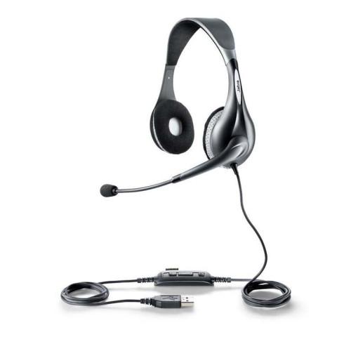 Jabra UC VOICE 150 MS duo headset Binaural Head-band Grey