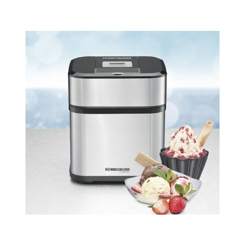 Rommelsbacher IM 12 Traditional ice cream maker 1.5L 12W Black, Stainless steel ice cream maker