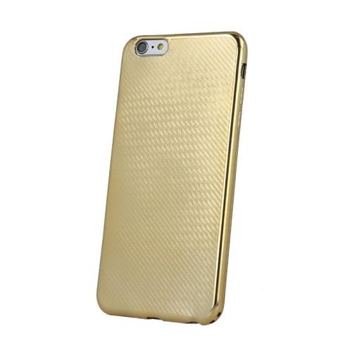 Mocco Carbon Premium Series Back Case Silikona Apvalks Priekš Samsung G930 Galaxy S7 Zeltains