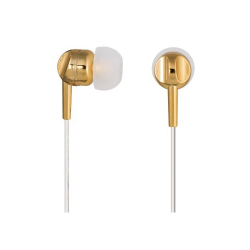 Hama EAR3005GD Gold, White Intraaural In-ear headphone