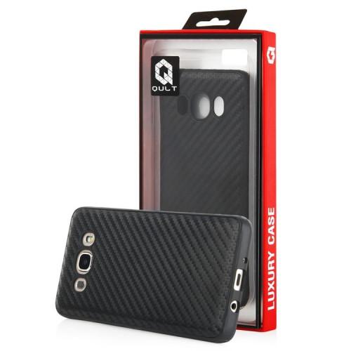 Qult Luxury Carbon Back Case Aizmugurējais Silikona Apvalks Priekš Apple iPhone 5 / 5S / SE Melns