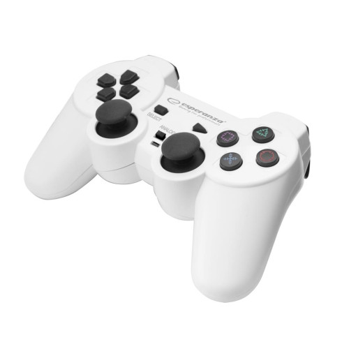 ESPERANZA EGG107W TROOPER - VIBRATION GAMEPAD FOR PC COMPUTERS / PS3 - WHITE