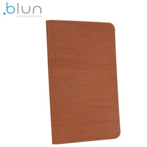 Blun Eko ādas Sāniski atverams maks ar stendu priekš Apple iPad Air 2 Brūns - Wood