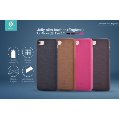 DEVIA Apple iPhone 7 Plus Jelly Slim Case  Brown