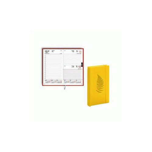 Dienasgrāmata EKO Elipse Soft māksl. āda dzeltena