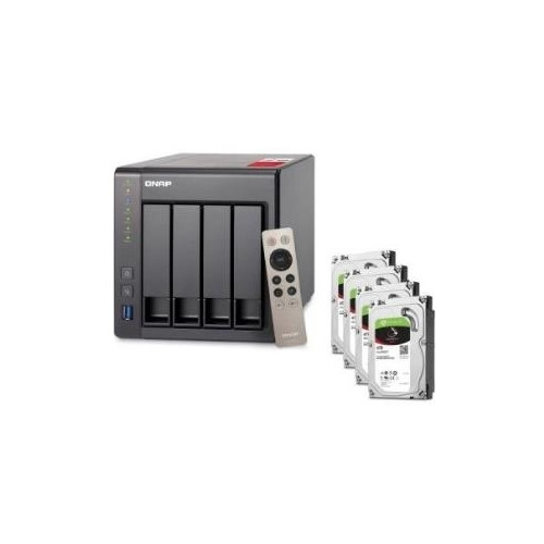 QNAP TS-451+-2G NAS System 4-Bay 16TB inkl. 4x 4TB Seagate ST4000VN008 Intel