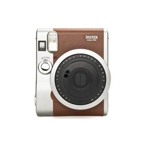 Fujifilm instax mini 90 NEO CLASSIC instant print camera 62 x 46 mm Brown, Stainless steel