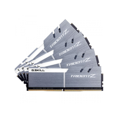 G.Skill DDR4 32 GB 3300-CL16 - Quad-Kit - Trident Z - Silver/White