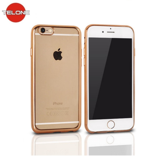buy online fefb1 45a9b Telone Super Thin Transparent Silicone Back Case Xiaomi Mi A1 / Mi 5X with  Gold color frame