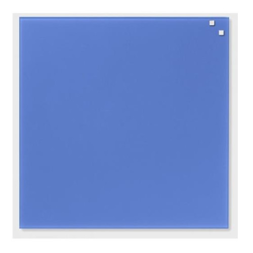 NAGA Magnetic glass board 45x45 cm blue