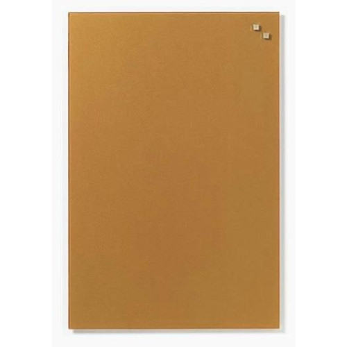 NAGA Magnetic glass board 40x60 cm gold