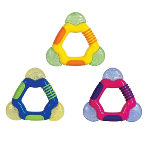 Textured Triangle Coolbite teether with Ice-gel