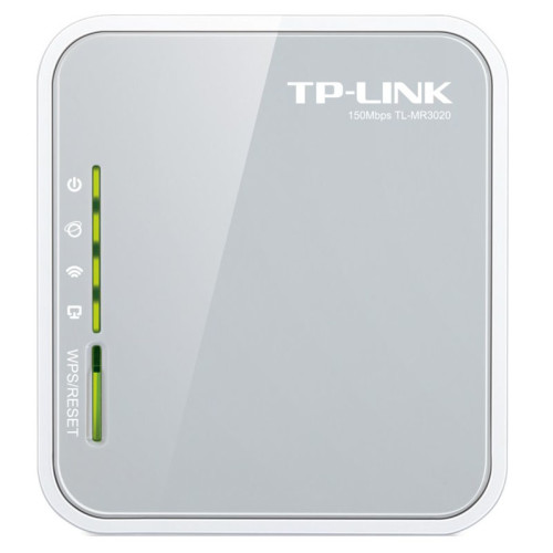 TP-LINK TL-MR3020 wireless router Single-band (2.4 GHz) Fast Ethernet 3G 4G Grey, White