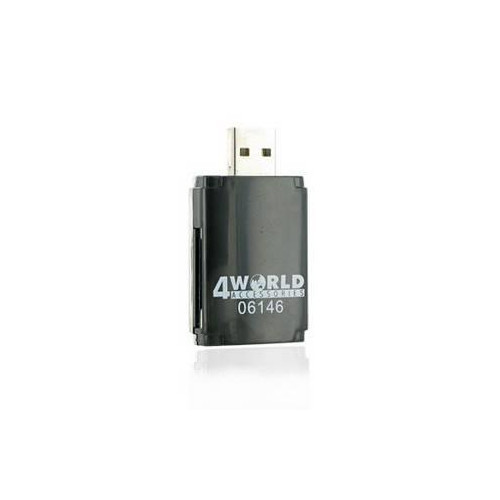4World flash card reader, USB 2.0 ALL-in-ONE MS/M2/SD/microSD/MMC PenDrive