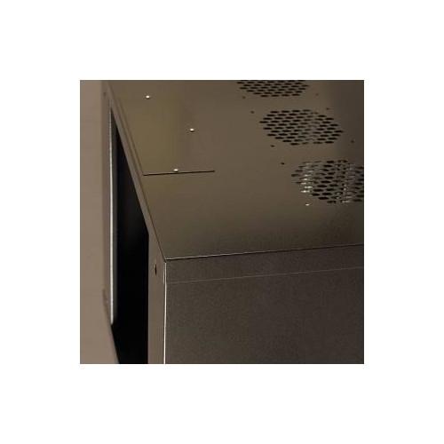 Netrack wall-mounted cabinet 19'', 9U/400mm, glass door,graphit