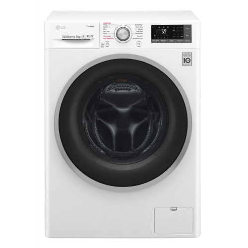 LG F4J7VY1W washing machine Freestanding Front-load White 9 kg 1400 RPM A+++