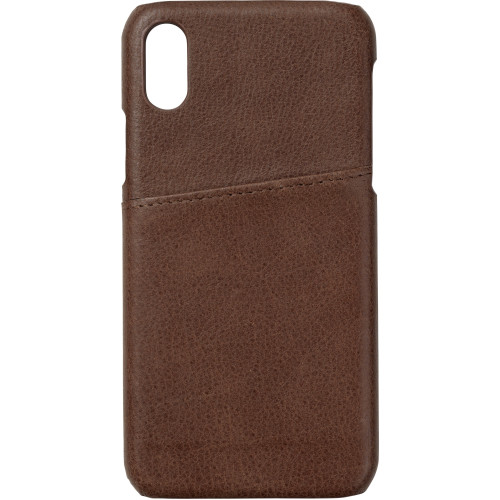 eSTUFF Iphone X Leather case Cover Brown