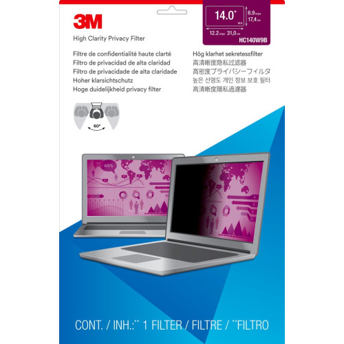 "3M 7100138482 Notebook Frameless display privacy filter 35.6 cm (14"")"