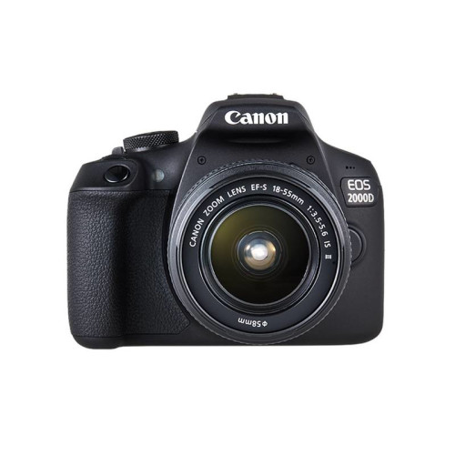 Canon EOS 2000D + EF-S 18-55mm f/3.5-5.6 IS II + EF 75-300mm f/4-5.6 III SLR Camera Kit 24.1 MP CMOS 6000 x 4000 pixels Black