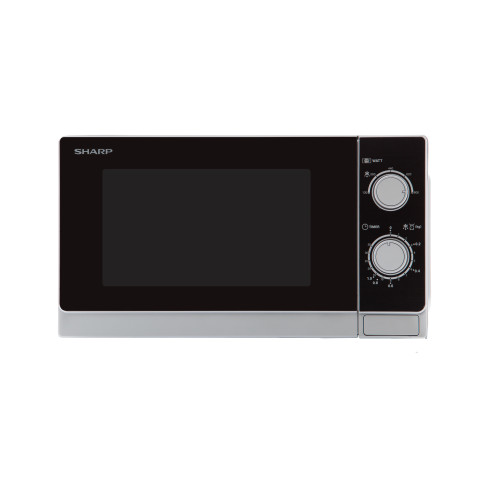 Sharp Home Appliances R-200INW microwave Countertop Solo microwave 20 L 800 W Metallic,Silver