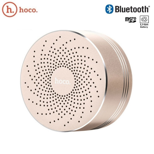 Hoco BS5 Swirl Metāla Korpusa Bluetooth Skaļrunis ar Micro SD slotu un Hand-Free zvanu Zelta