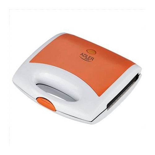 Waffle maker Adler AD 3021 Orange, 750  W, Belgium, Number of waffles 2