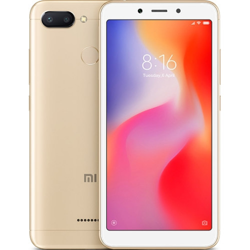 "Xiaomi Redmi 6 13.8 cm (5.45"") 3 GB 32 GB Dual SIM 4G Gold 3000 mAh"