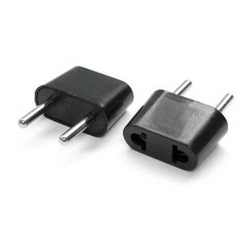 Power adapter USA to EURO (black)