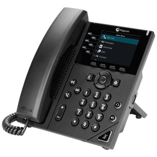 Polycom VVX 350 IP phone Black Wired handset LCD 6 lines