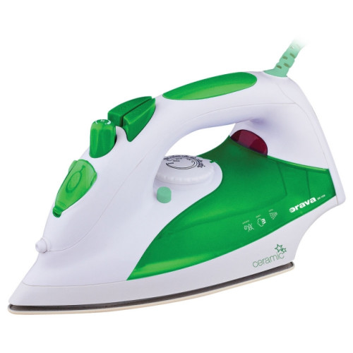 Orava ZE-108 G iron Dry & Steam iron Ceramic soleplate Green, White 2000 W