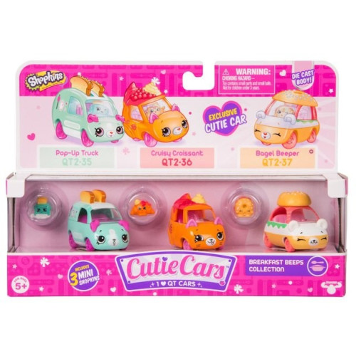 Shopkins Cutie Cars 3-pak Breakfast Beeps Collection