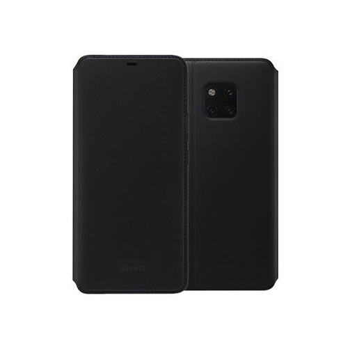 Huawei Mate 20 Pro Leather Flip Cover  Black