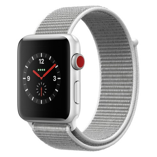 APPLE WATCH SER.4 44MM SILVER, BAND SPORT SEASHELL