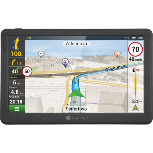 "Navitel MS700 navigator 17.8 cm (7"") Touchscreen TFT Fixed Black"